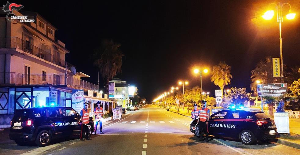 """images Covid. Controlli dei carabinieri sul litorale lametino: chiuso un locale in località """"Pesci e Anguille"""" di Gizzeria"""