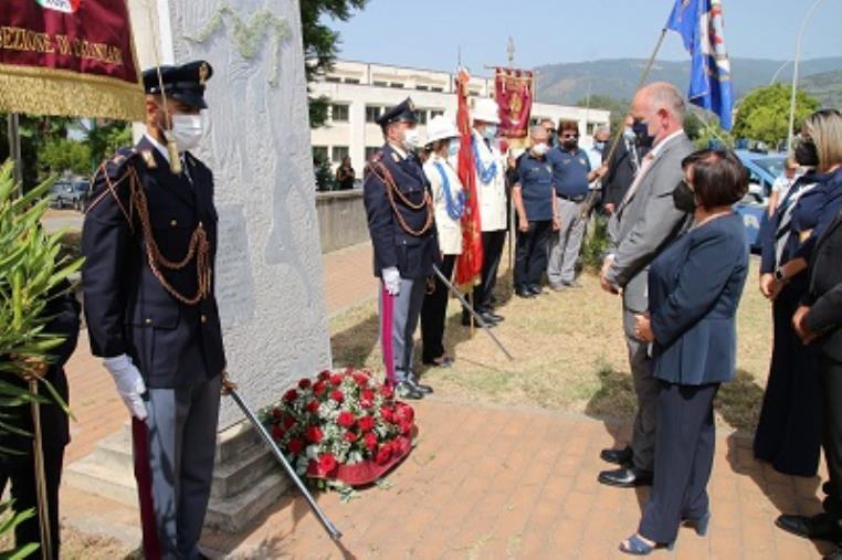 images Lamezia Terme: cerimonia di commemorazione in ricordo della guardia Paolo Diano, vittima del dovere