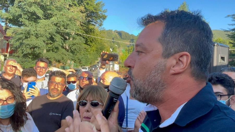 images Bagno di folla per Salvini in Aspromonte