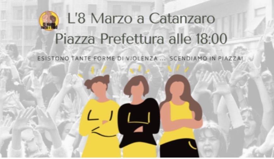 """images 8 marzo a Catanzaro. """"Ci siamo rotte i tabù"""" scende in piazza contro ogni forma di violenza"""