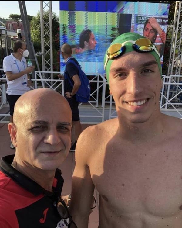 images Catanzaro. L'atleta Giovanni Caserta della Calabria Swim Race sgretola il muro del 1'50'' sui 200 stile libero