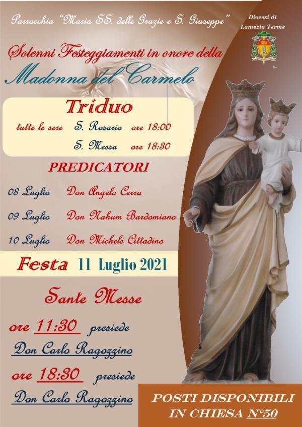 images Al via questa sera il triduo per la festa della Madonna del Carmelo a Fronti