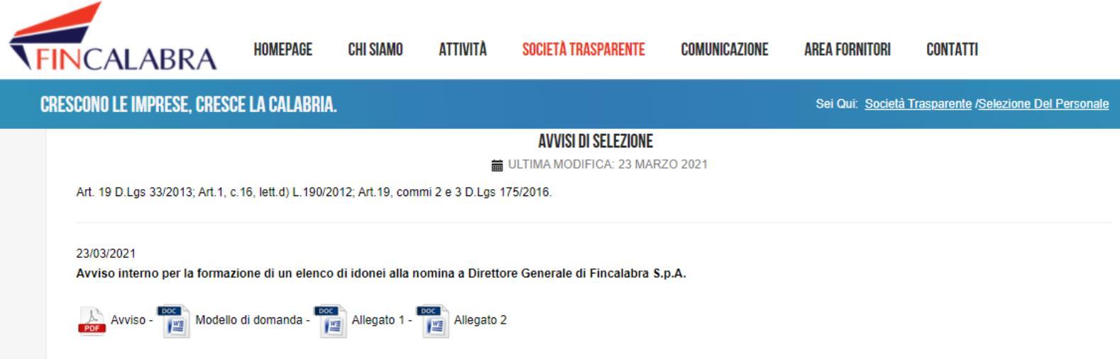 """images Fincalabra. Molinaro (Lega) attacca: """"Avviso anomalo per la nomina del dg"""". E sollecita la commissione vigilanza del consiglio regionale"""