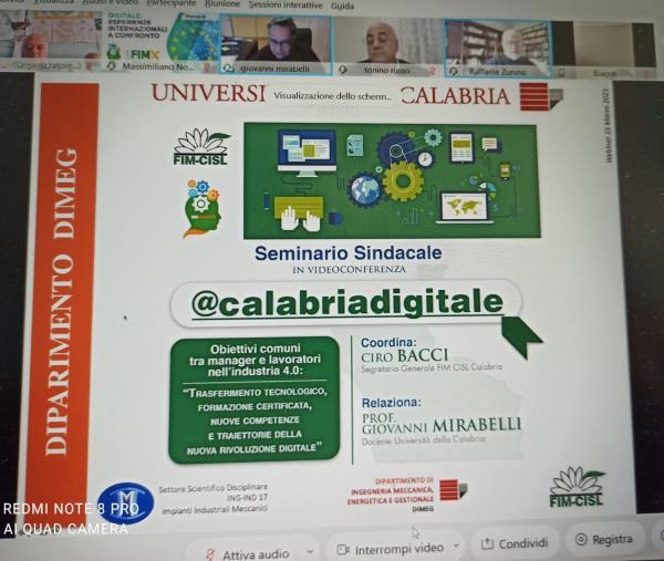 images Nuova rivoluzione digitale e obiettivi comuni tra manager e lavoratori nell'industria 4.0, seminario Fim-Cisl Calabria