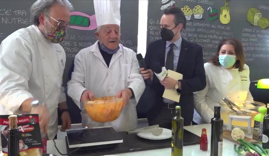 images La carbonara di mare del maestro Sacco protagonista alla Prima fiera virtuale per l'agricoltura della Calabria