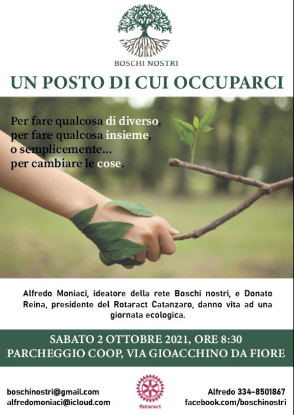 """images Catanzaro. Giornata ecologica per il 2 ottobre, da via Gioacchina Da Fiore fino alla """"Valle dei Mulini"""""""