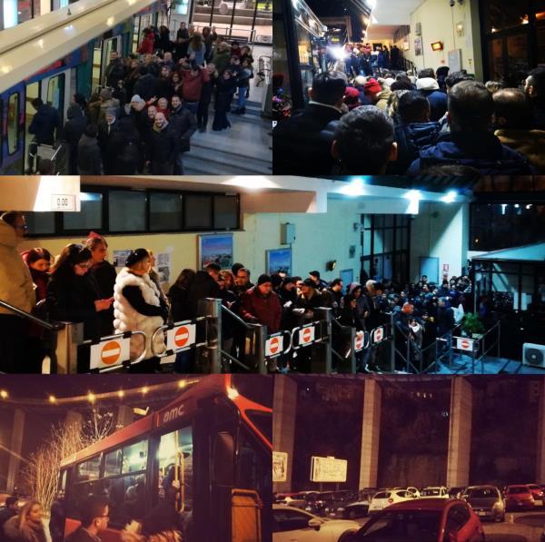 """images I servizi dell'Amc per il Capodanno catanzarese. """"La funicolare ha trasportato 4 mila persone"""""""
