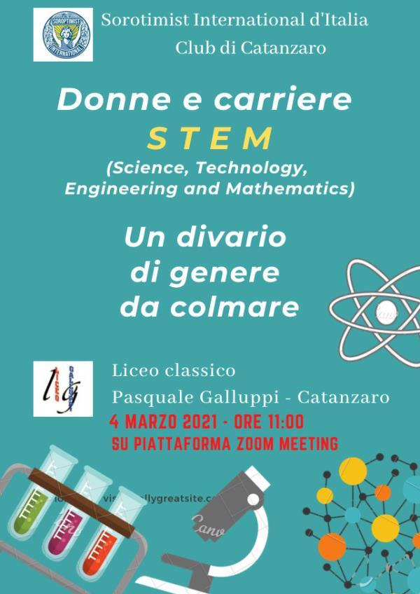 """images """"Donne e Carriere STEM: un divario di genere da colmare"""": incontro promosso dal Soroptimist di Catanzaro e il liceo Galluppi"""