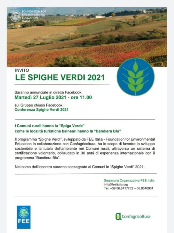 """images Spighe verdi 2021. Zicchinella: """"Il comune di Sellia in finale"""""""