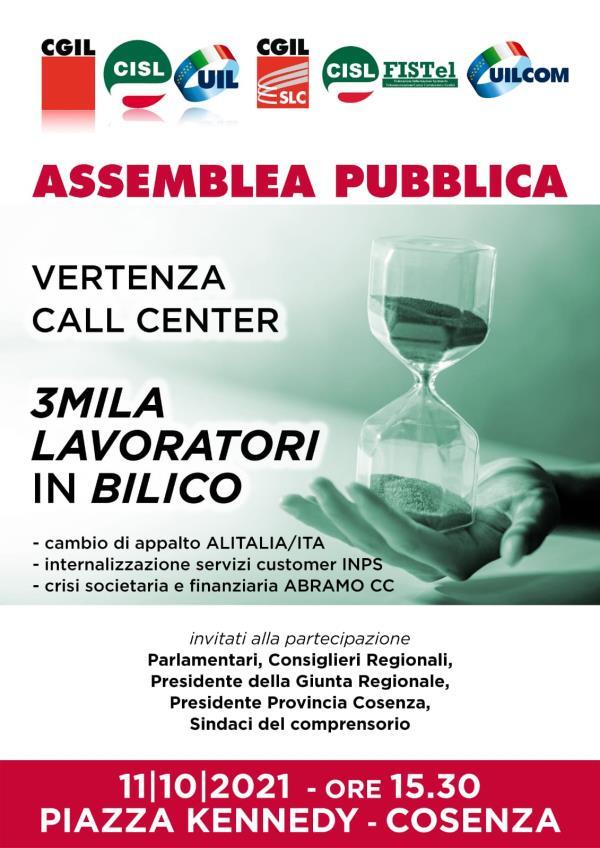 Vertenza call center a Cosenza: l'assemblea si svolgerà all'Hotel Royal