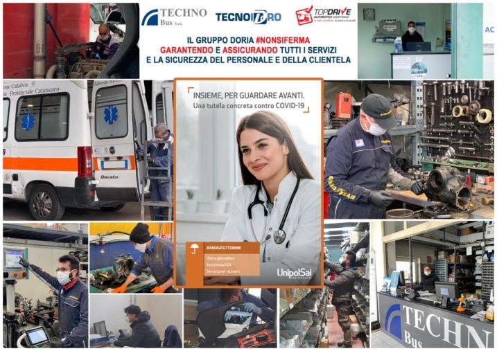 """images Coronavirus. Una polizza a tutti i dipendenti: l'iniziativa dell'azienda catanzarese """"Doria"""""""
