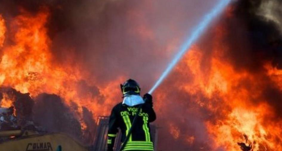 images Reggio Calabria. Incendiata una discarica abusiva di rifiuti: identificato e indagato un 56enne
