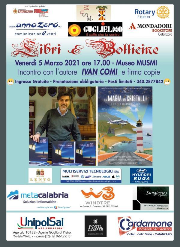 """images """"Libri&bollicine"""". Domani il catanzarese Ivan Comi presenterà il libro """"La magia dei cristalli"""""""