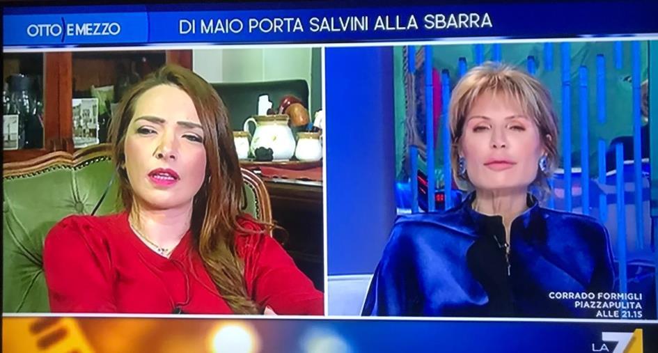 """images Sardine. Jasmine Cristallo a Salvini: """"Mi batto anche per sua figlia"""""""