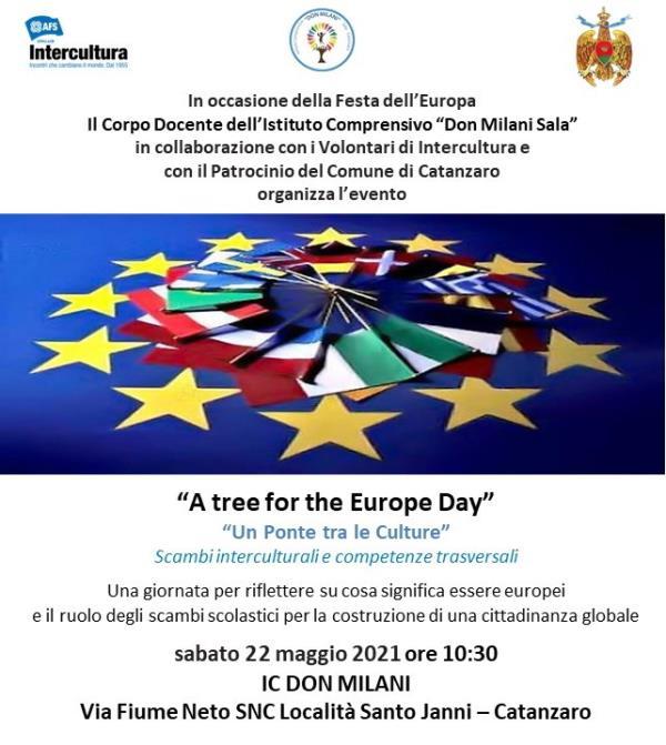 """images Catanzaro. All'Ic """"Don Milani Sala"""" studenti e volontari di Intercultura celebreranno la """"Festa dell'Europa"""""""