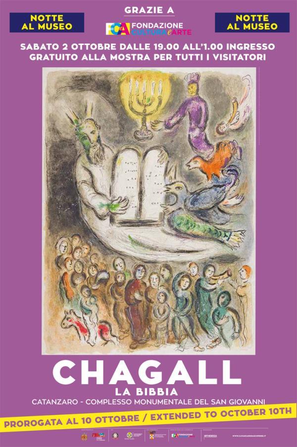 """images Notte al Museo, ingresso gratuito per mostra """"Chagall-La Bibbia"""" a Catanzaro"""