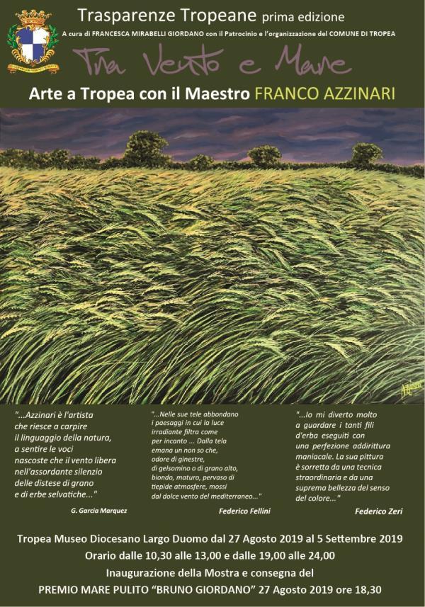 """images """"Tra vento e mare"""", l'arte a Tropea con il maestro Franco Azzinari"""