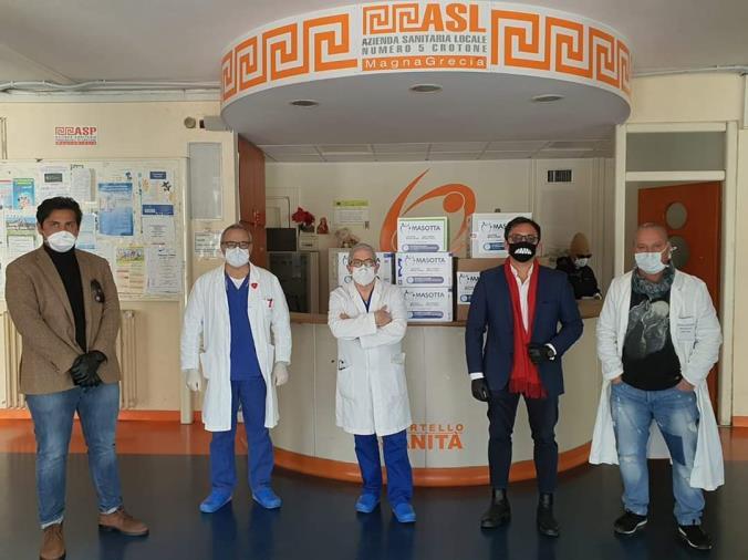 """images Coronavirus. Donati presidi medici protettivi, la Neonatologia di Crotone ringrazia  i """"Centri Medici Odontoiatrici Masotta"""""""