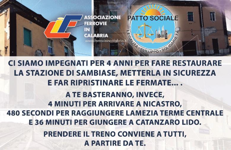 images Campagna di sensibilizzazione per l'uso della stazione ferroviaria Lamezia ovest