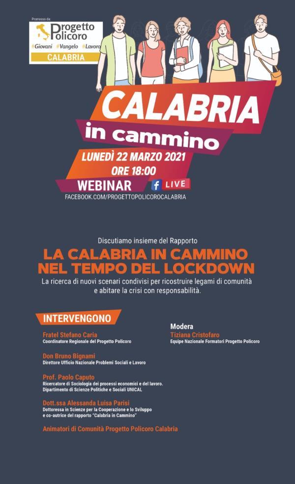 """images """"La Calabria in cammino nel tempo del lockdown"""", il 22 marzo la presentazione del Progetto Policoro"""