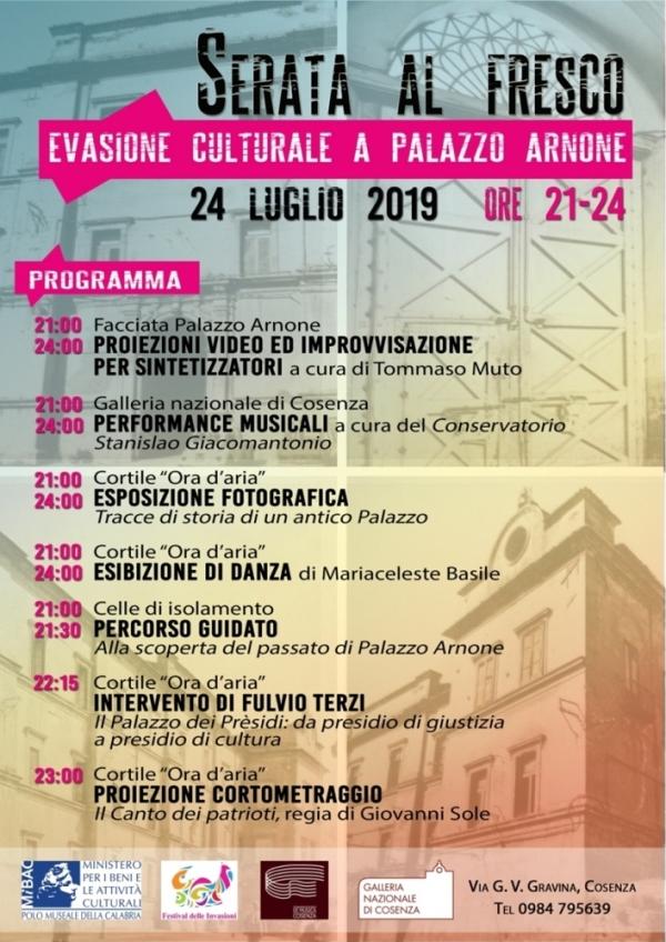 """images """"Serata al fresco"""" a Palazzo Arnone di Cosenza"""