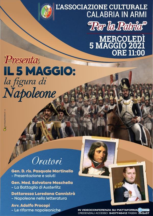 """images Catanzaro. L'associazione """"Calabria in Armi"""" ricorda la figura di Napoleone nel bicentenario della morte"""