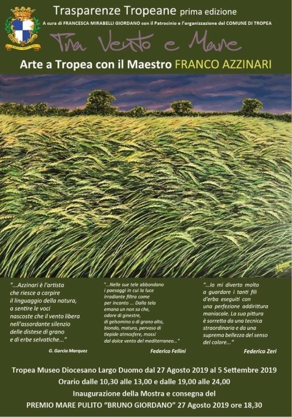 images Tropea ospiterà da domani la mostra di Azzinnari e riceverà il Premio mare pulito 2019