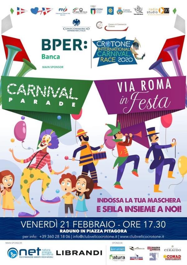 images Domani a Crotone per Carnival Parade maschere colorate e costumi invaderanno il centro cittadino