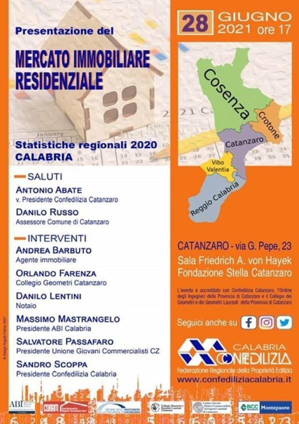 images Rapporto Immobiliare Calabria 2020.  Se ne parla domani pomeriggio in un incontro  di Confedilizia Calabria