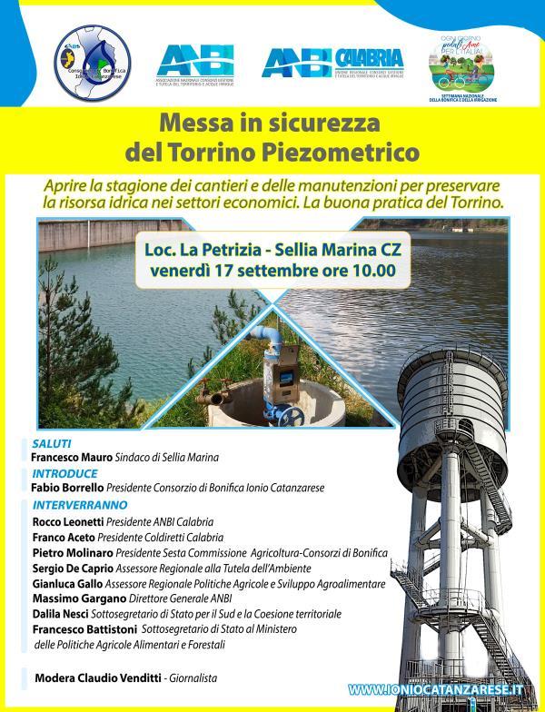 images Il Consorzio di Bonifica di Catanzaro guarda avanti: venerdì a Sellia Marina inaugura la  messa in sicurezza del Torrino Piezometrico