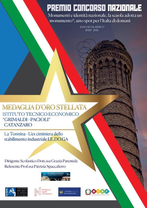 """images """"La scuola adotta un monumento"""", Medaglia d'Oro Stellata, all'I.T.E. """"Grimaldi-Pacioli"""" di Catanzaro"""