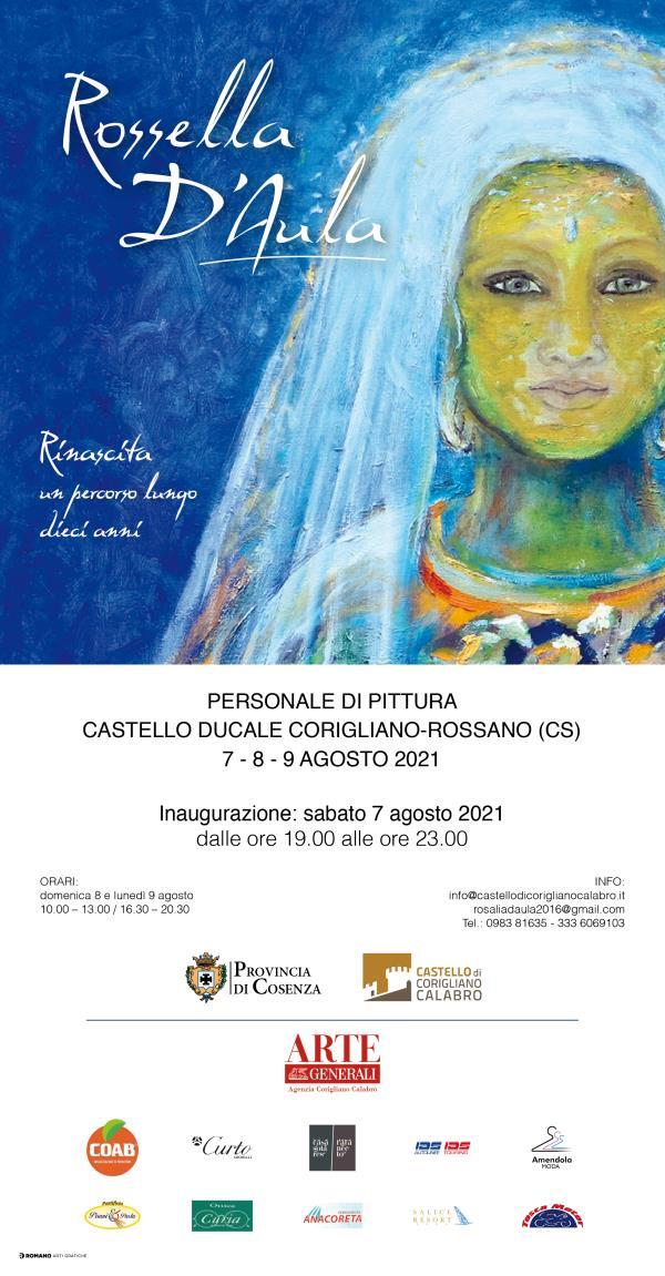 images Corigliano-Rossano. Il 7 agosto si inaugura la personale di Rossella D'Aula nel Castello Ducale