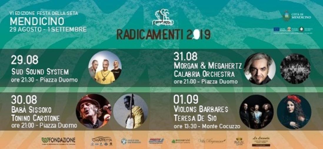 """images Quattro giorni di musica e tradizioni popolari per la chiusura di """"Radicamenti 2019"""" a Mendicino"""
