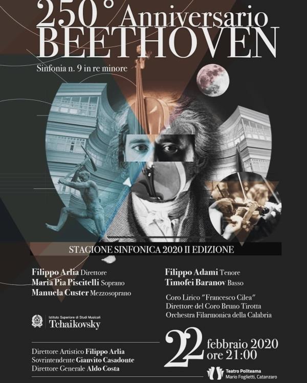 """images Domani al Teatro Politeama per i 250 anni dalla nascita di Beethoven, concerto """"Sinfonia numero 9 in re minore"""""""