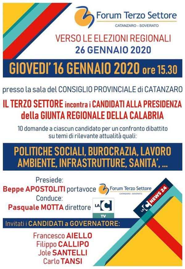 images REGIONALI. Il Forum del Terzo Settore di Catanzaro incontra, giovedì, i candidati alla presidenza della Regione