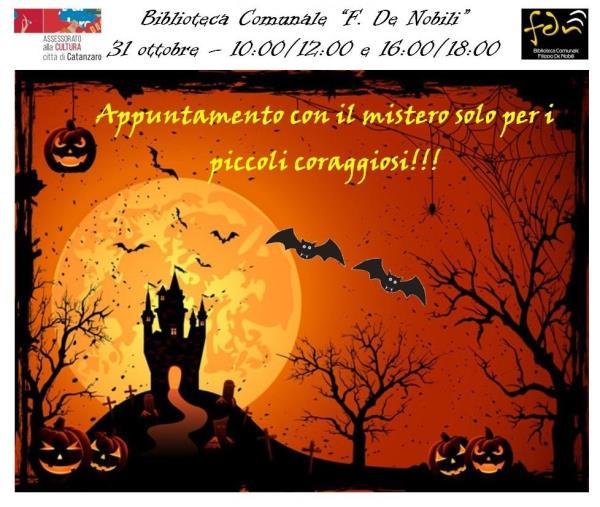 images Halloween in biblioteca: tante le attivita' organizzate in collaborazione con l'assessorato alla cultura per il 31 ottobre