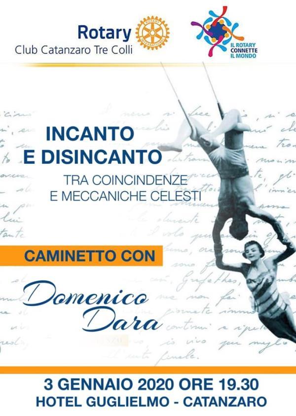 """images Domani prima attività del 2020 per il """"Rotary tre colli"""" con lo scrittore Domenico Dara"""