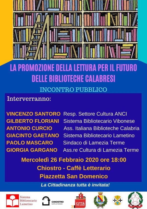 """images Mercoledì a Lamezia Terme la conferenza stampa di presentazione del progetto """"Città che legge"""""""