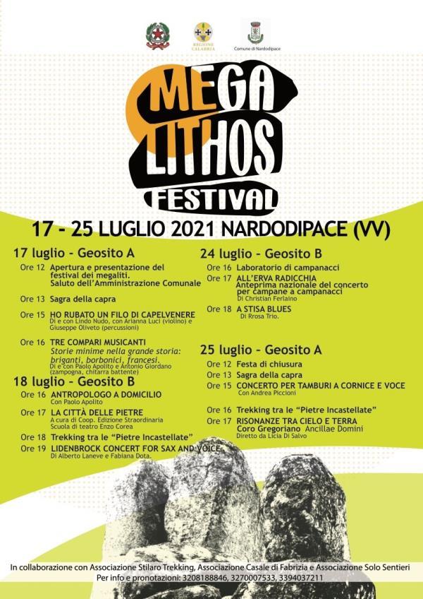 """images A Nardodipace la prima edizione del """"Megalithos Festival"""". I primi due appuntamenti sabato 17 e domenica 18 luglio"""