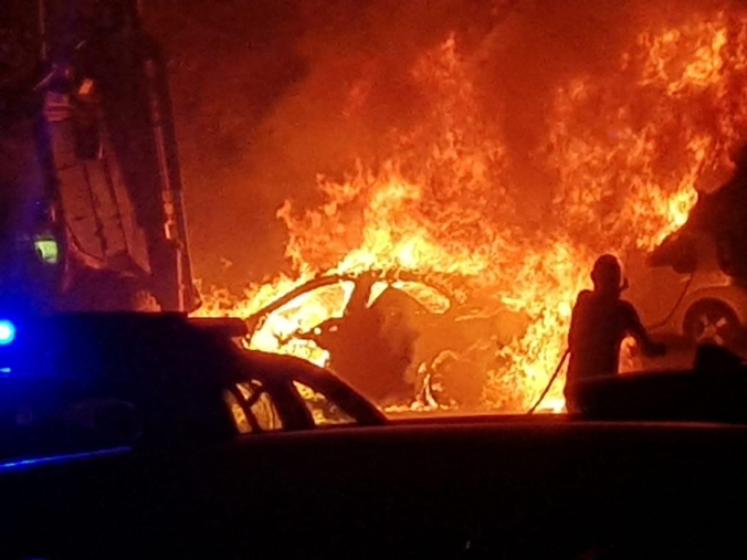 images Marina di Mandatoriccio, in fiamme l'auto di Iozzi, ex dirigente comunale