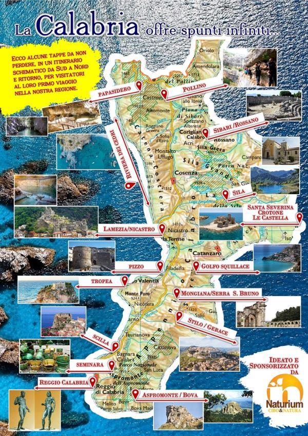 Cartina Calabria Mare.L Omaggio Di Naturium Alla Calabria Con Una Mappa In Regalo Ai Turisti