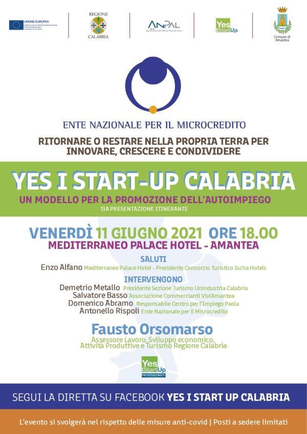 """images Amantea. Venerdì la tappa di """"Yes I start-up Calabria"""" con Orsomarso"""