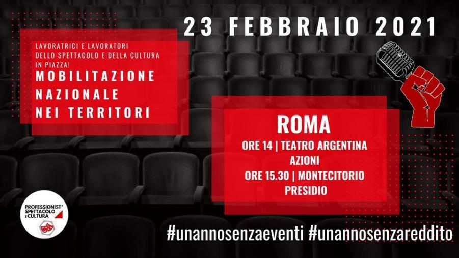 """images Domani il Movimento """"Approdi"""" parteciperà alla giornata nazionale della mobilitazione della cultura e dello spettacolo"""