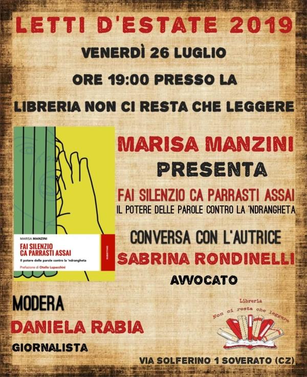 """images Marisa Manzini descrive """"il potere delle parole contro la 'ndrangheta"""""""