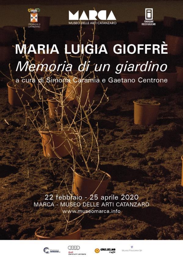 """images """"Memoria di un Giardino"""" di Maria Luigia Gioffrè. Al Marca dal 22 febbraio al 25 aprile"""