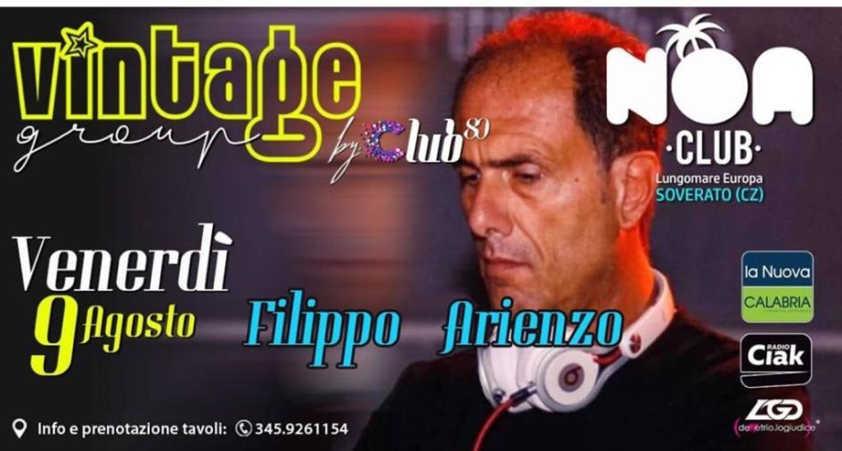 images Filippo Arienzo sarà il prossimo special guest del Noa Club