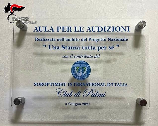 """images Inaugurata al comando compagnia carabinieri di Palmi la """"Stanza tutta per sé"""""""