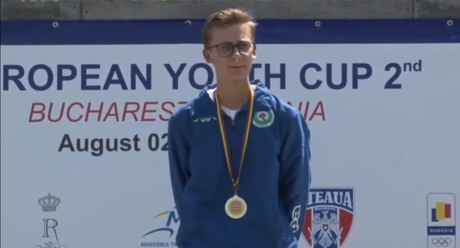 images European Youth cup- 2°Bucharest: l'arciere catanzarese Francesco Poerio Piterà vince la finale valevole per la medaglia d'oro