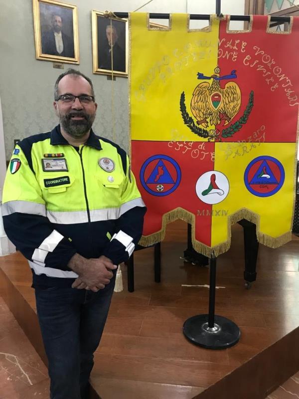 images Pizzoni confermato coordinatore del gruppo comunale volontari protezione civile