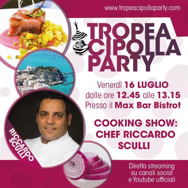 images Tropea. Cipolla Party, venerdì al via la tre giorni di eventi: Cooking show d'autore con Sculli e Corelli